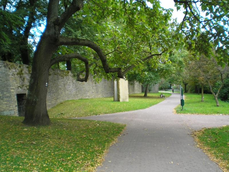 Soest - Stadtmauer und Gräfte mit Fuß-/Radweg