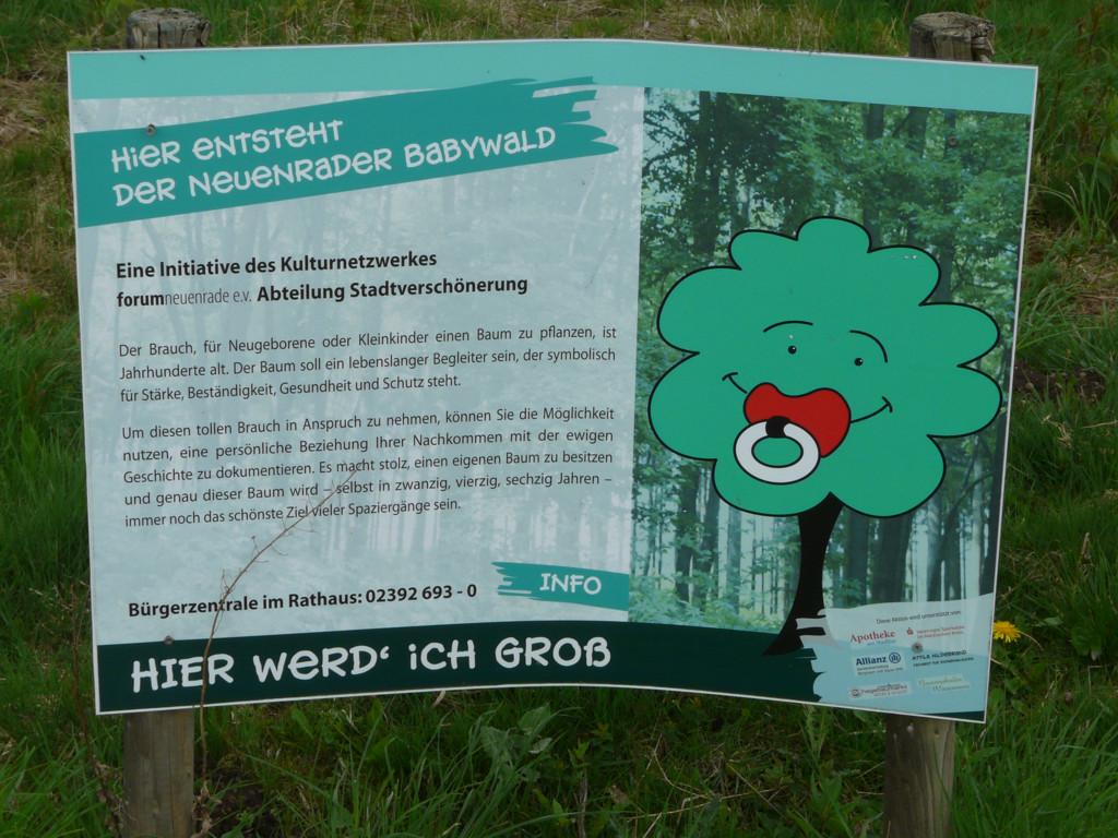 Infotafel Babywald Neuenrade